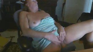 granny Paula masturbates for 22 years old pupil
