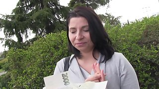 Disquieted European teen accepts cash for dealings on cam