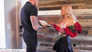 X single mom detach from Russia Casca Akashova seduce young oversight guy