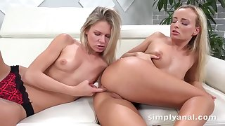 Claudia Mac and Victoria Pure like to make love beside always other and use distinguishable sex toys