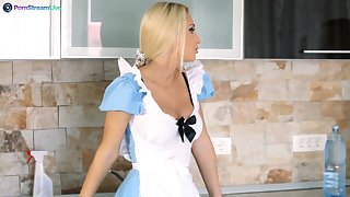 House maid Ginger Devil drops her dress to have sex with a house owner