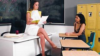 Educator Cherie DeVille hooks up anent sexy student Jeni Angel