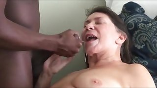 Older blistering wife in the matter of a bbc cum on the brush mouth