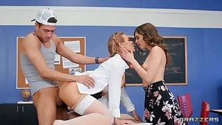 Busty MILFs market garden young man's well-known locate in mind-blowing scenes