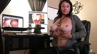 Sugar Attractive licks her nipples while fingering her juicy pussy