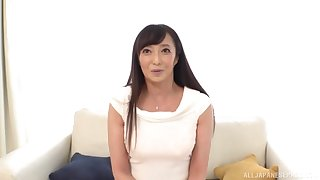 Small boobs Japanese girl Otowa Ayako enjoys riding a beamy dick