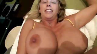 Busty blonde Wife cheating & fucking - Homemade facial
