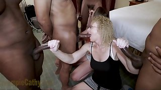 Defiant sluts interracial gangbang porn video