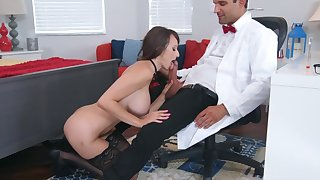 Sexual experience at work for busty Lexi Luna